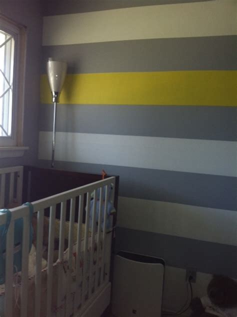 grey yellow walls gray white and yellow wall stripes new room