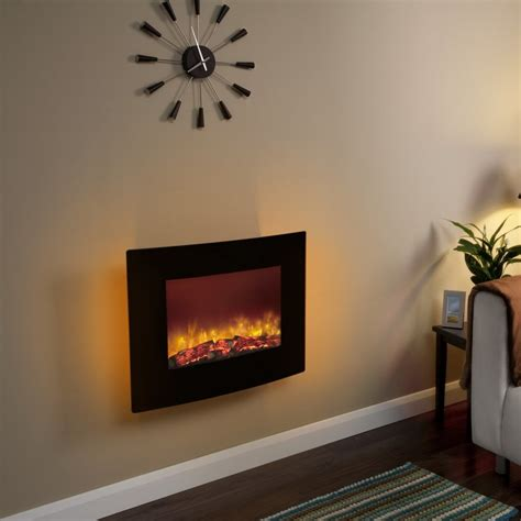 Wall Mounted Fireplace For Modern Wall Decor ? The Wooden