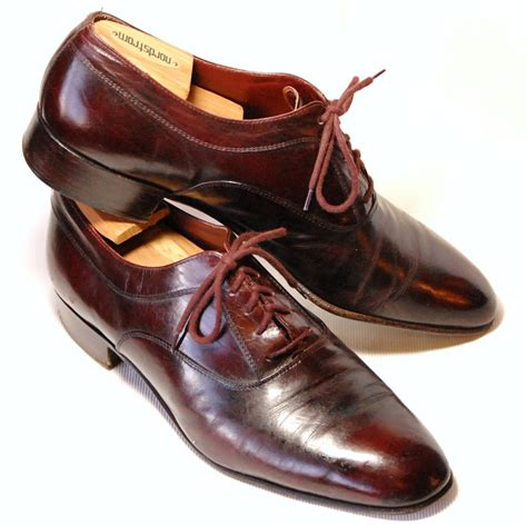 Handmade Italian Shoes - sleek vintage handmade italian leather mario bruni by