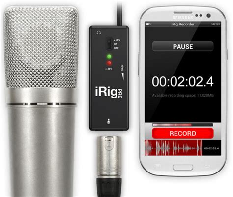 irig for android audio irig recorder app brings high quality sound recording to the android platform