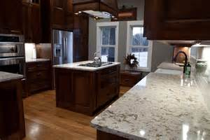 Cambria Kitchen Cabinets by Wonderful Wooden Range Hood Over White Granite Cambria