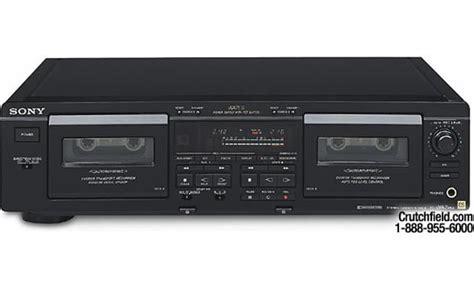 sony deck sony es tc wa7esa dubbing cassette deck at crutchfield