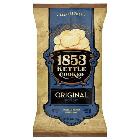 Kitchen Cooked Potato Chips by 1853 Potato Chips Kettle Cooked Original 8 5 Oz 241 G