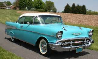 1957 Chevrolet Belair Turquoise White 1957 Chevy Bel Air 2 Door Hardtop