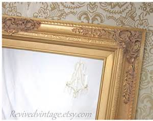 gold frame bathroom mirror gold frame mirror etsy