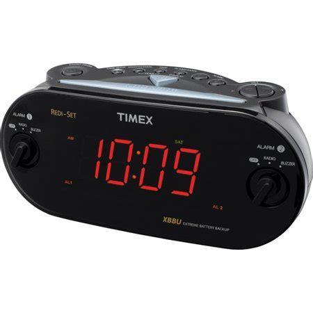 timex t715bw3 dual alarm clock radio walmart