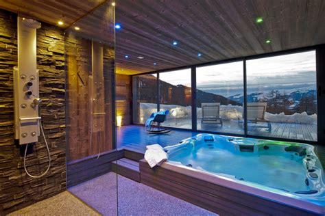 Green Bedrooms ski chalet in la plagne 5 bedrooms jacuzzi hot tub