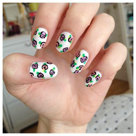 easy nail art roses diy floral rose nail art burkatron