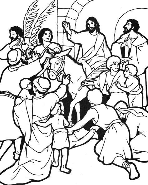 coloring page of jesus on palm sunday palm sunday triumphal entry into jerusalem