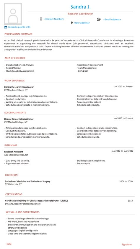 Clinical Research Coordinator Resume by A Starter S Guide To Design Clinical Research Coordinator
