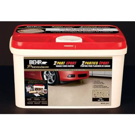 Garage Floor Paint Home Depot Canada Behr Premium 2 Part Epoxy Garage Floor Coating