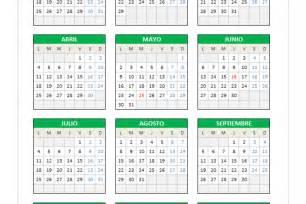 Calendario 2016 Excel Calendario 2016 En Excel Planillaexcel