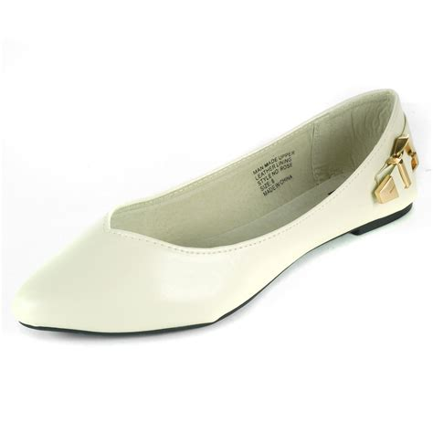 Pointed Ballerina Flats With Metal Shoes alpine swiss womens ballet flats pointed toe suede