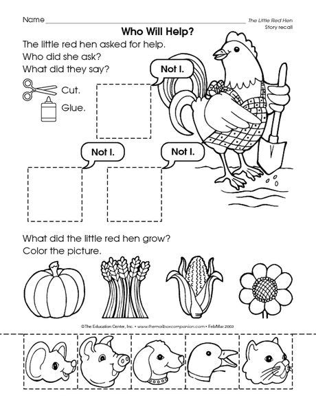 The Hen Worksheets Free by 53 Best Images About Hen On Cut And