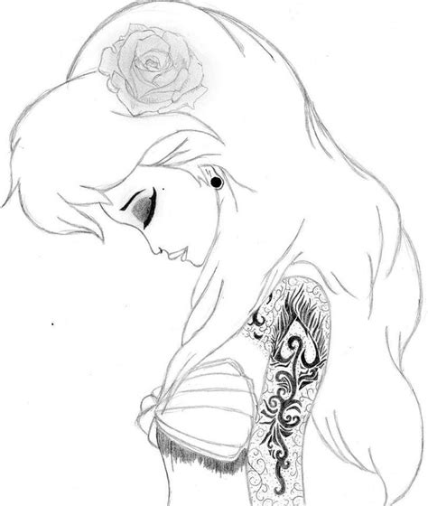 punk ariel coloring page coloring pages