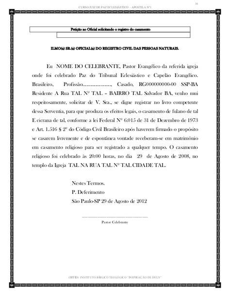CURSO JUIZ DE PAZ ECLESIÁSTICO
