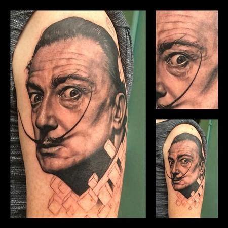 tattoo parlour dundrum black and grey salvador dali portrait tattoo by gigi