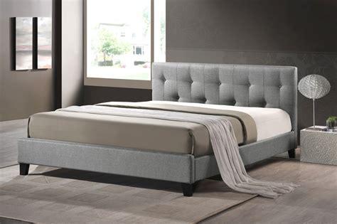 cheap white headboard full baxton studio annette gray linen modern bed with