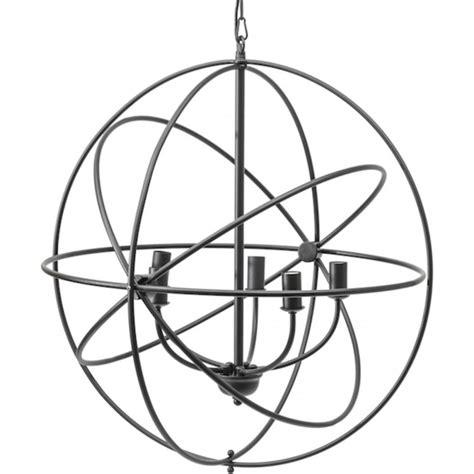 Wrought Iron Ceiling Light by Libra Company Tavistock 36227 Globe Wrought Iron Pendant