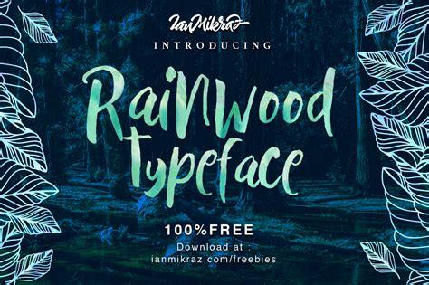 Best Handmade Fonts - rainwood free handmade font free fonts