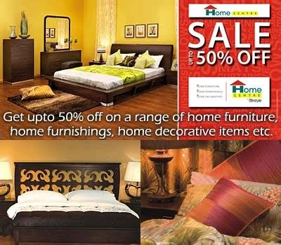 get upto 50 on a range of home center furniture at