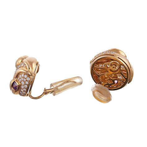 bulgari pink tourmaline earrings