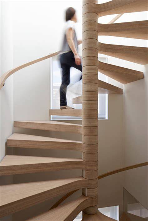 Plywood Stairs Design Oak Plywood Spiral Staircase Contemporary Staircase By Eldridge