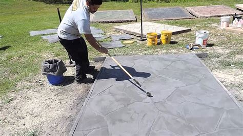 roller pattern concrete touch up roller for sted concrete youtube