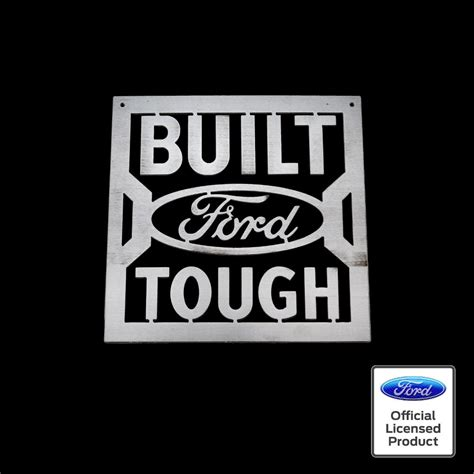 Built Ford Tough Logo by Built Ford Tough Sign Speedcult Officially Licensed