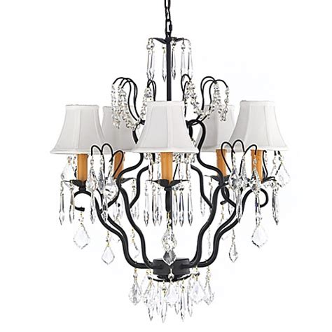 Gallery Wrought Iron 5 Light Chandelier With Crystals Wrought Iron Chandeliers With Shades