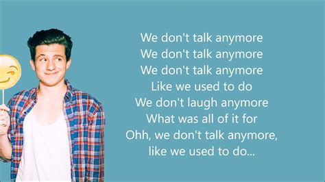 download mp3 we don t talk anymore download song we dont talk anymore we don t talk anymore