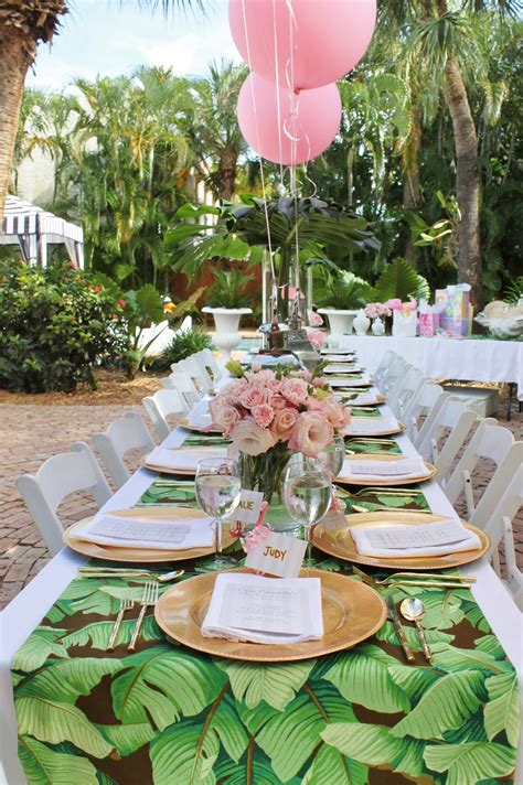 palm beach chic baby shower  luxe report designs