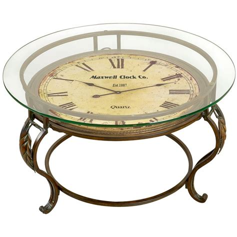 Clock Coffee Table Maxwell Clock Coffee Table It Works Home Decor