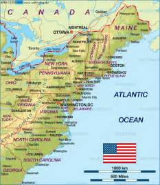 map of united states west coast states in east coast map of east coast usa united