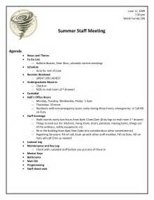Staff Meeting Template by Sle Staff Meeting Agenda Template 1 Best Agenda Templates