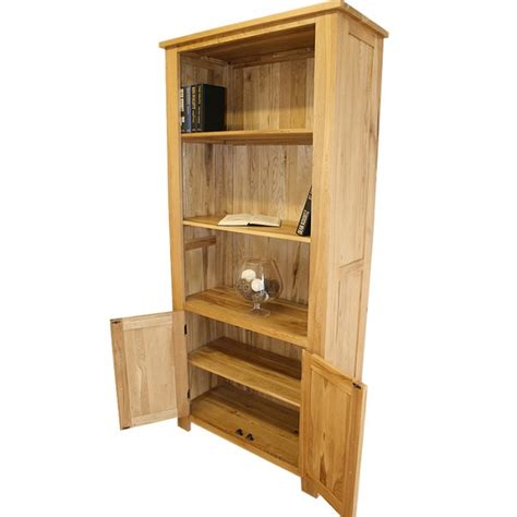 delamere solid light oak bookcase best price guarantee