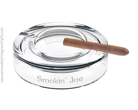 crystal round cigar ashtray customized for you