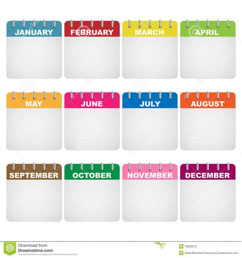Calendar Icons Royalty Free Stock Images Image 18299319