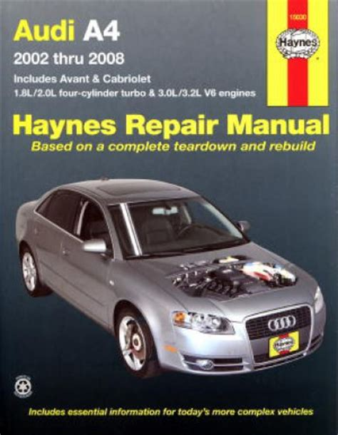 how to download repair manuals 2008 audi rs 4 spare parts catalogs haynes audi a4 2002 2008 auto repair manual