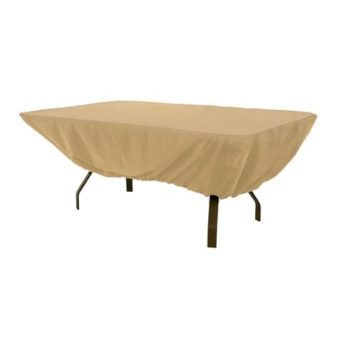 Patio Table Covers Hearth Garden Polyester Standard Patio Table Cover With Pvc Coating Sf40243 The Home Depot