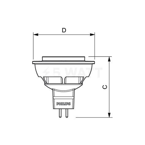 Lu Philips Essential 50 Watt led 雹隶霄霓隶 philips essential led mr16 5 50w gu5 3 2700k 24d