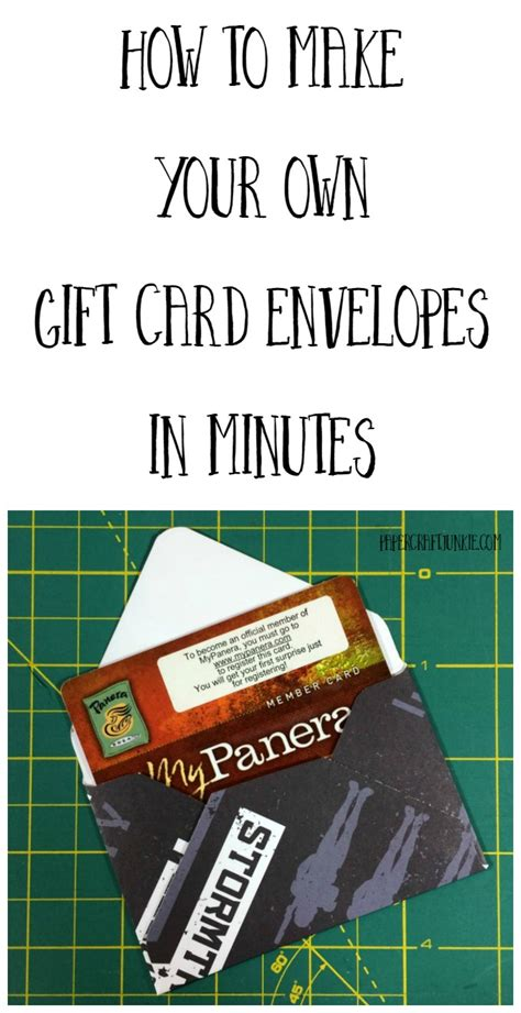 How To Make Your Own Gift Cards - how to make your own gift card envelopes paper craft junkie