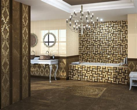 badezimmer mit kronleuchter mosaik fliesen f 252 rs badezimmer 15 ideen und muster