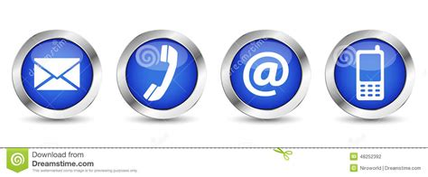 email website web contact us buttons stock vector illustration of icon