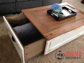 Diy Storage Table Diy Coffee Table With Storage Free Plans Rogue Engineer