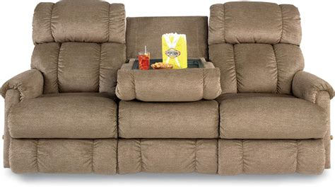 microfiber reclining sofa with console sofa with console best recliner sofa with console