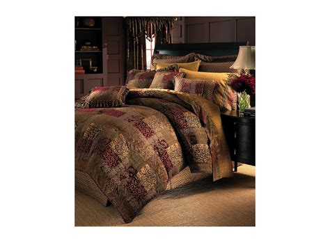 croscill galleria red comforter set cal king shipped