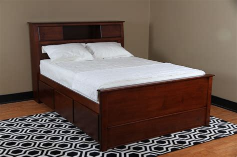 bed with headboard and drawers bedroom captain style queen size wood bed with drawers