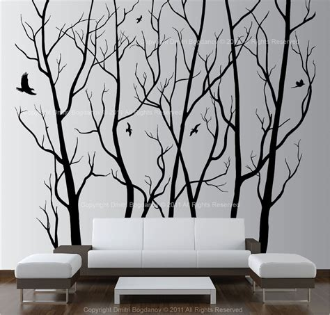 wall stickers home decor large wall decor vinyl tree forest decal sticker