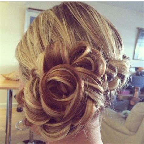 hairstyles fancy buns quot chignon bloom quot updo s pinterest beautiful updo and